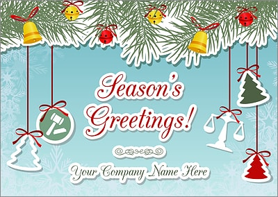 Attorney Ornaments Christmas Card (Glossy White)