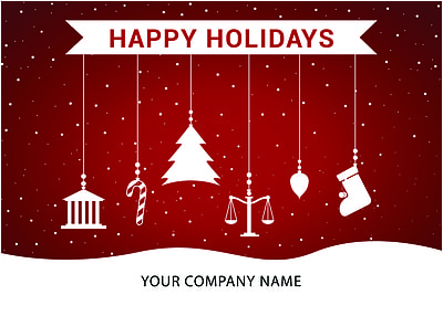 Attorney Ornaments Holiday Card (Glossy White)