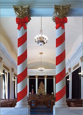 Candy Cane Courtroom (Glossy White)