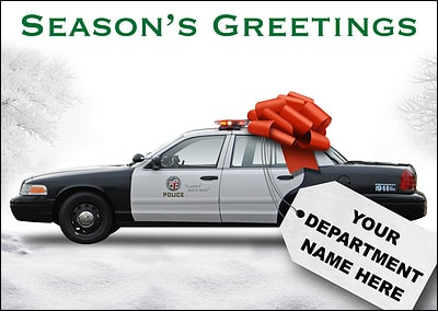 Cruiser Police Christmas Card (Glossy White)