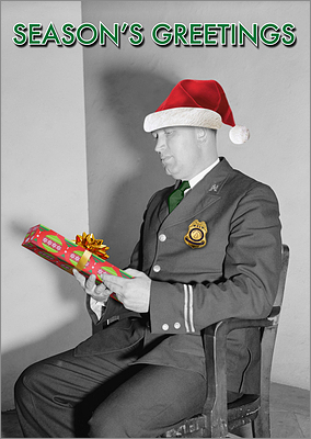 Law Enforcement Christmas Card (Glossy White)