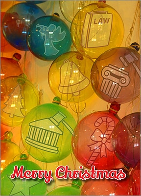 Legal Glass Ornaments (Glossy White)