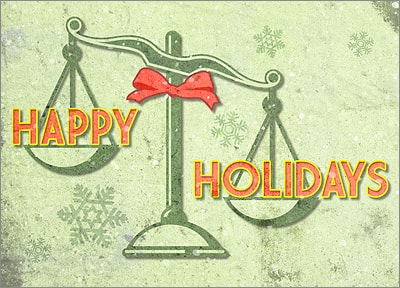 Legal Holiday Card (Glossy White)