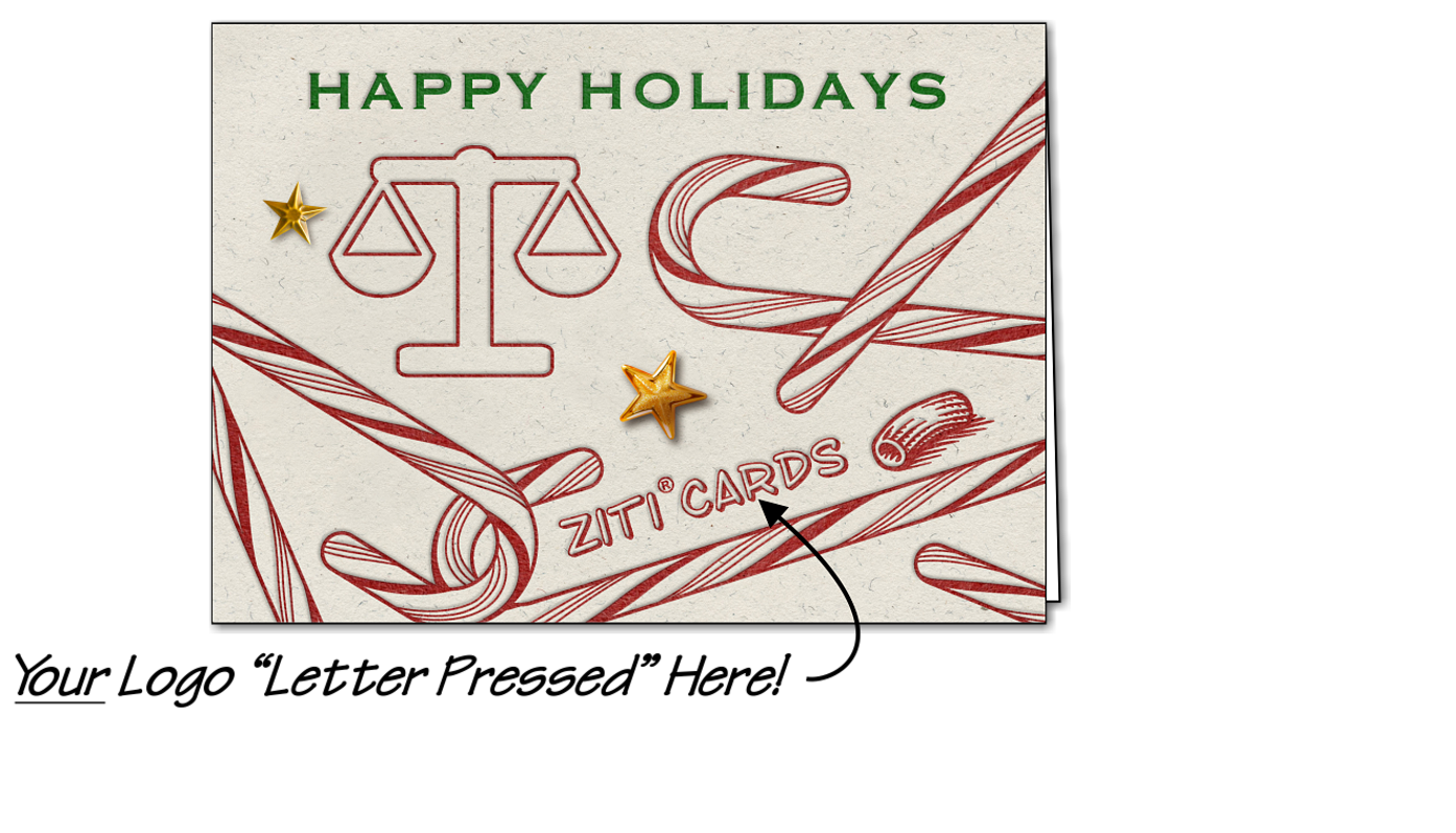 Legal Logo Candy Canes (Glossy White)