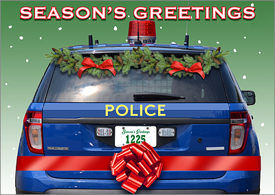 Police Holiday Card (Glossy White)
