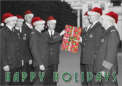 Squad Police Christmas Card (Glossy White)