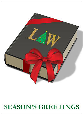 Law Christmas Card (Glossy White)