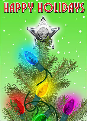Star Police Christmas Card (Glossy White)